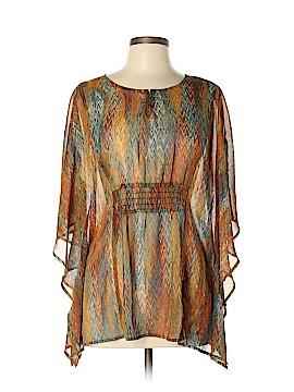 Tribal 3/4 Sleeve Blouse Size M