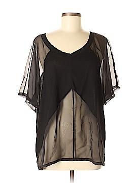 Upson Downes Short Sleeve Blouse Size M