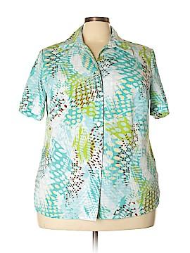 Allison Daley Short Sleeve Button-Down Shirt Size 20 (Plus)