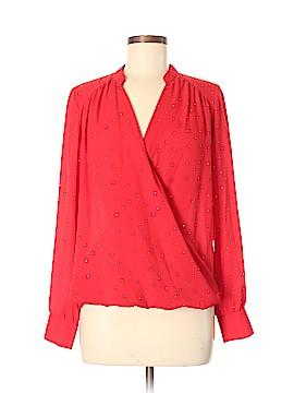 INC International Concepts Long Sleeve Blouse Size 8