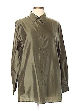 Karen Scott Long Sleeve Silk Top Size L