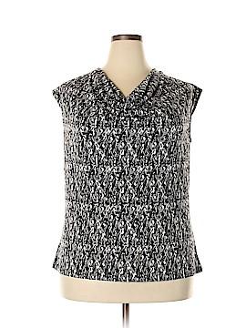 Kasper Short Sleeve Top Size 1X (Plus)