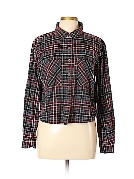 LA Hearts Long Sleeve Button-Down Shirt Size L