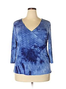 Bobbie Brooks 3/4 Sleeve Top Size 3X (Plus)