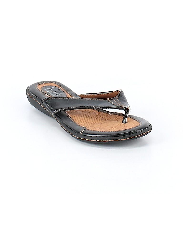 ebd631b36ce8 B O C Born Concepts Solid Black Flip Flops Size 7 - 70% off