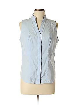 White House Black Market Sleeveless Button-Down Shirt Size 12