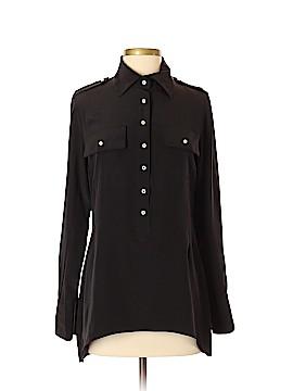 Lia Kes Long Sleeve Silk Top Size S