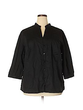 St. John's Bay 3/4 Sleeve Blouse Size 3X (Plus)