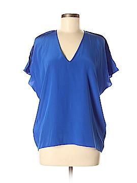 Ramy Brook Short Sleeve Silk Top Size M
