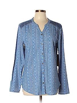 Ruff Hewn Long Sleeve Button-Down Shirt Size XL (Petite)