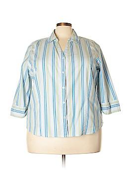 Studio Works 3/4 Sleeve Button-Down Shirt Size 3X (Plus)
