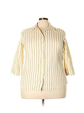 Columbia 3/4 Sleeve Button-Down Shirt Size 2X (Plus)