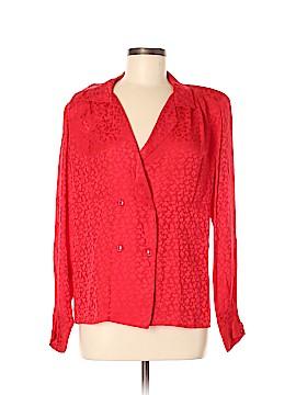 Albert Nipon Long Sleeve Silk Top Size 8