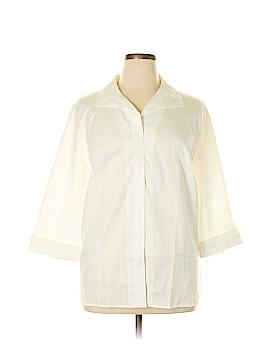 Maggie Barnes 3/4 Sleeve Button-Down Shirt Size 1X (Plus)