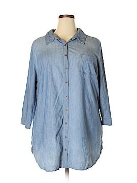 A.n.a. A New Approach 3/4 Sleeve Button-Down Shirt Size 3X (Plus)