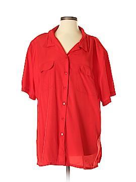Carolina Colours Short Sleeve Button-Down Shirt Size 22 (Plus)