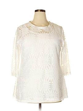 BFA Classics 3/4 Sleeve Blouse Size 1X (Plus)