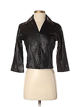 DANIER Faux Leather Jacket Size 2