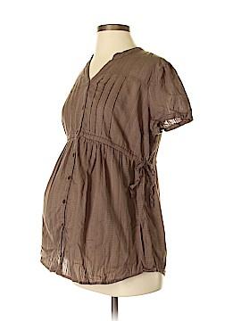 Bump Start by Motherhood Maternity Short Sleeve Blouse Size M (Maternity)