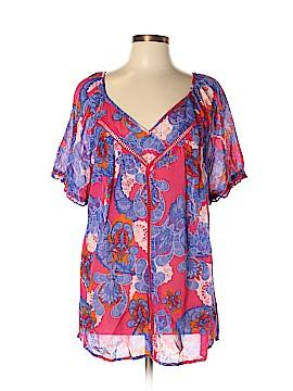 Nine West Vintage America Short Sleeve Blouse Size XL