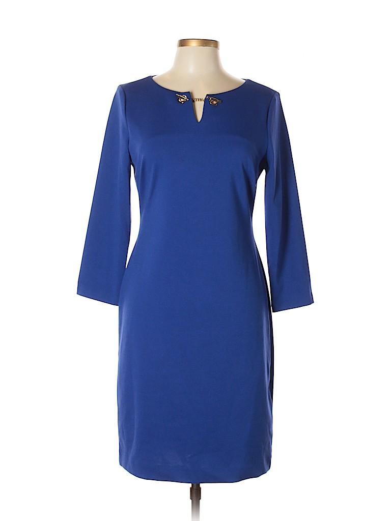 8338463b962 Ivanka Trump Solid Navy Blue Casual Dress Size 10 - 79% off | thredUP
