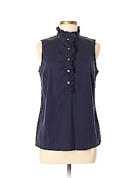 Tory Burch Sleeveless Button-Down Shirt Size 10