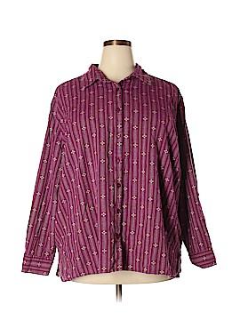 Liz & Me Long Sleeve Button-Down Shirt Size 3X (Plus)