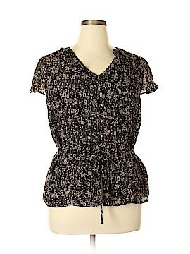 JM Collection Short Sleeve Blouse Size 16