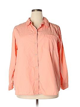Cherokee Long Sleeve Button-Down Shirt Size 22W (Plus)