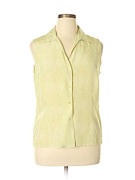 Jones Wear Sleeveless Silk Top Size 16