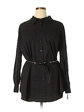 INC International Concepts Long Sleeve Button-Down Shirt Size 22 (Plus)