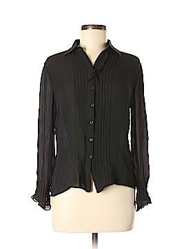 Max Studio Long Sleeve Silk Top Size L