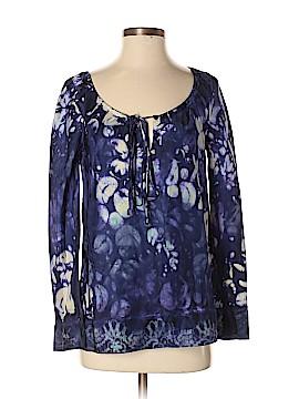 Marika Charles Long Sleeve Silk Top Size Sm (1)