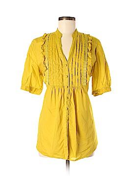 Elle Short Sleeve Button-Down Shirt Size L