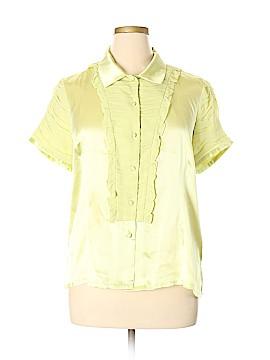 Simply. Chloe Dao Short Sleeve Silk Top Size XL