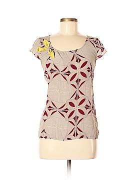 Floreat Short Sleeve Silk Top Size 8