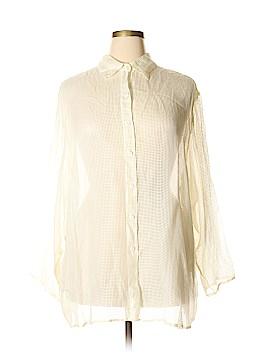 Tamotsu New York Long Sleeve Silk Top Size 22 (Plus)