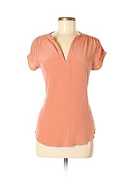 Amour Vert Short Sleeve Silk Top Size M
