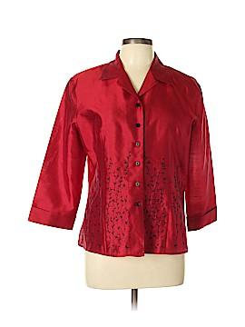 DressBarn 3/4 Sleeve Silk Top Size L
