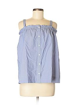 J. Crew Sleeveless Button-Down Shirt Size 6 (Tall)