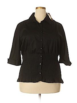 JouJou 3/4 Sleeve Blouse Size 3X (Plus)
