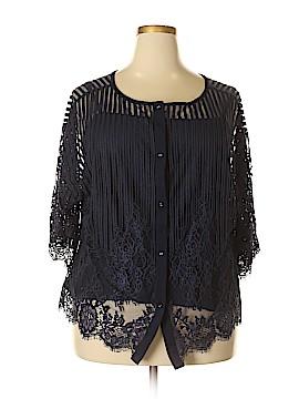 CAbi Short Sleeve Blouse Size 22 (Plus)
