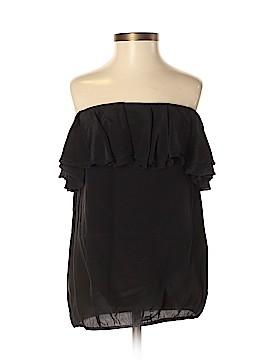 Blaque Label Short Sleeve Silk Top Size S