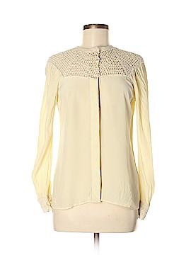 Beyond Vintage Long Sleeve Silk Top Size M