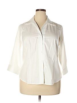 Jones New York 3/4 Sleeve Button-Down Shirt Size 1X (Plus)