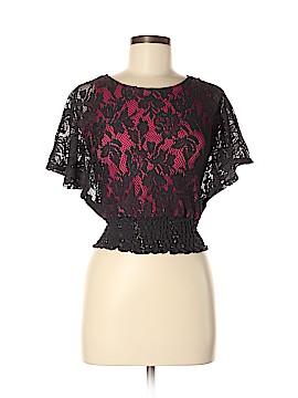 Lily Bleu Short Sleeve Blouse Size M