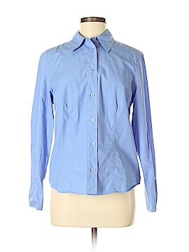 Harve Benard Long Sleeve Button-Down Shirt Size M