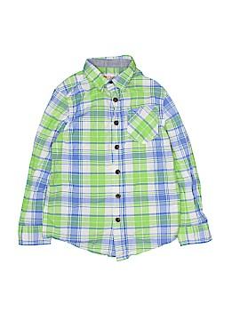 Cat & Jack Long Sleeve Button-Down Shirt Size 6 - 7