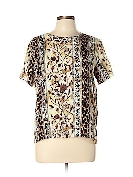 Halston Short Sleeve Silk Top Size 12