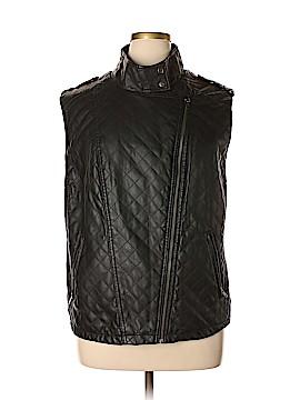 Apt. 9 Faux Leather Jacket Size 3X (Plus)